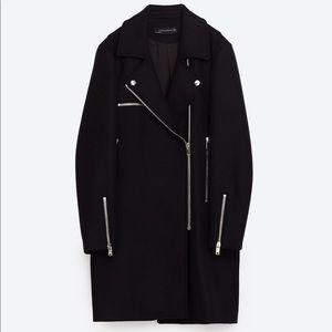 Zara Oversized Biker Pea Coat